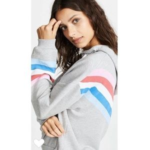 Wildfox Striped Spectrum Hoodie Colorful Retro NWT